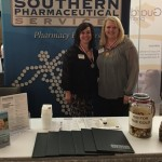 Tess Davis, director of business development, and Terri Payne, account manager, at the spring conference.